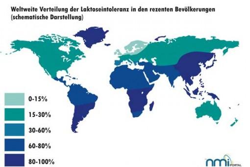 Verbreitung von Laktose Intoleranz