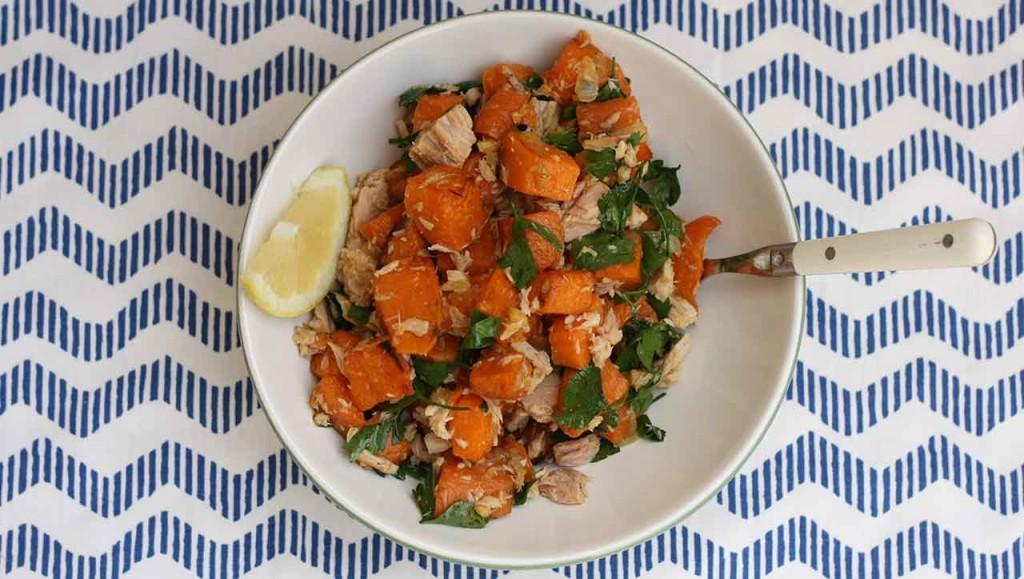 süßkartoffel thunfisch salat-rezept