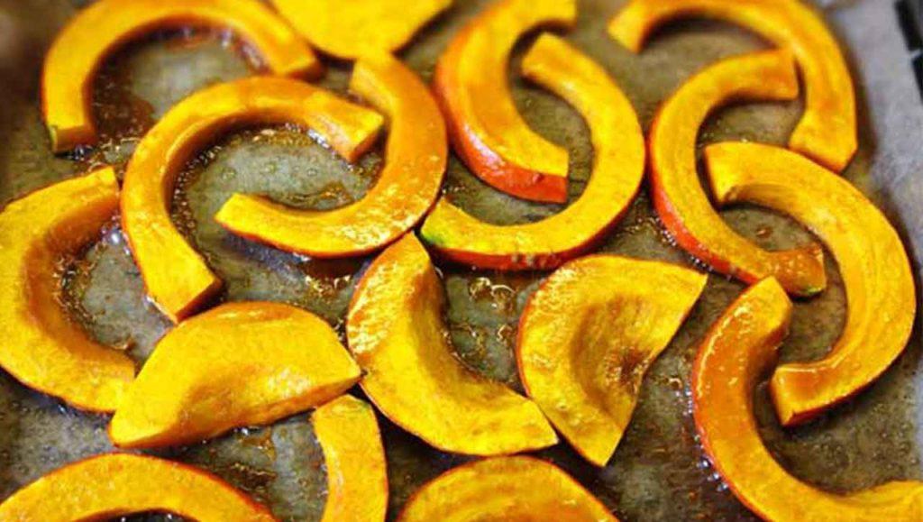 gebackener Kübisstreifen aus dem Ofen