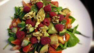 Salat Apfel Himbeer Dressing