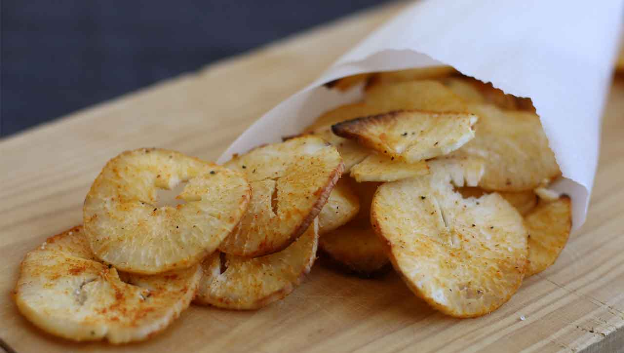 Gebackene Maniok Chips