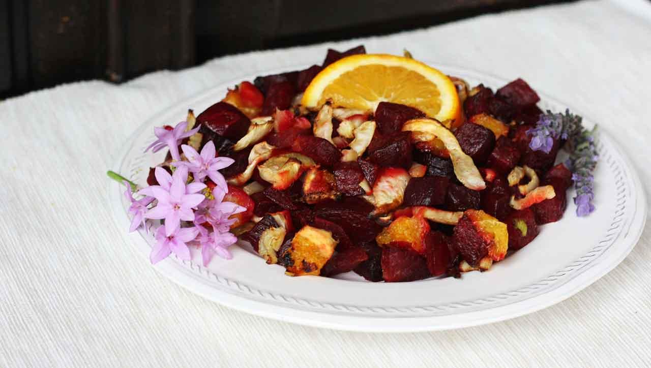 gebackene Rote Beete mit Fenchel und Orange: mhhhhh