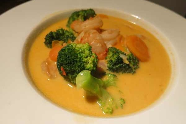 Thai Curry Suppe mit Garnelen