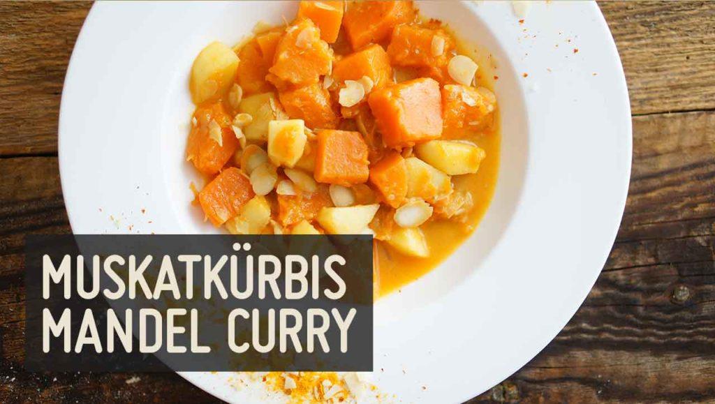 muskatkürbis mandel curry