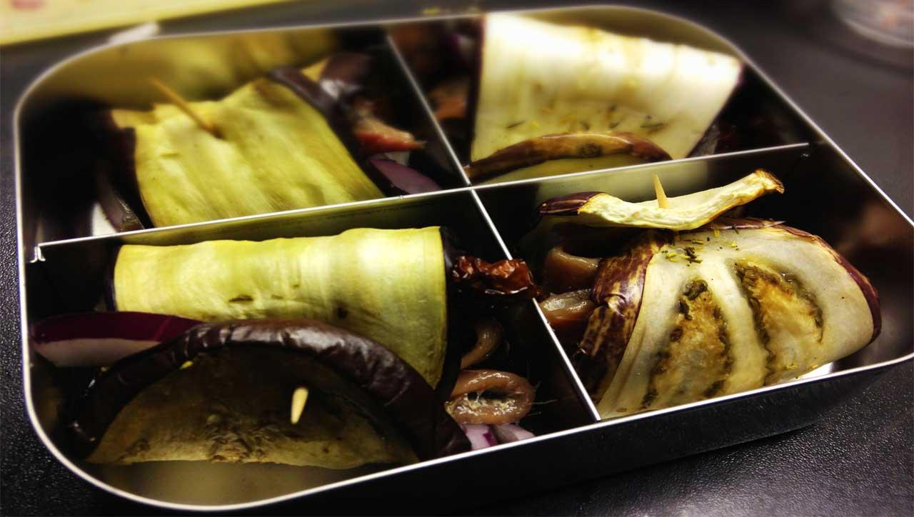 Sardinen-Auberginen-Wraps