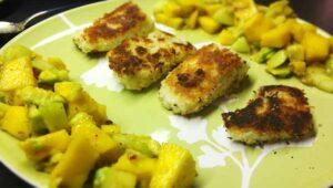 Fisch Kokos Mango Salsa