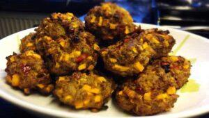 Hackfleischbaellchen Suesskartoffel