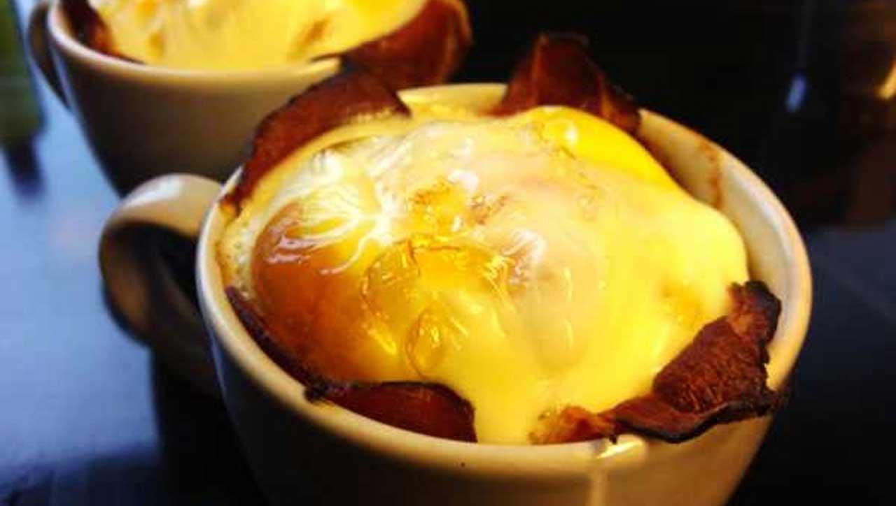 Ofen-Ei mit Schinken