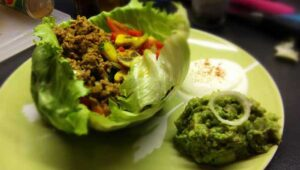 Wraps Hackfleisch Guacamole