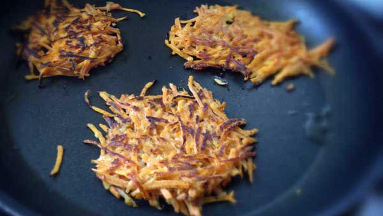 Paleo-Puffer mit Süßkartoffel und Karotte