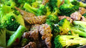 Rindfleisch Brokkoli Pfanne