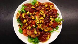 Wassermelone Feigen Salat