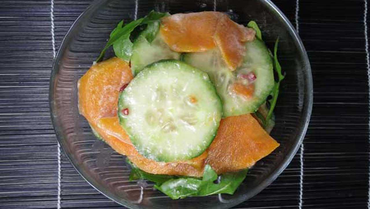Ingwer Kartoffel Gurkensalat