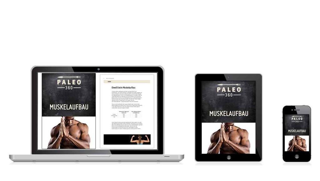 Darstellung Power Guide Muskelaufbau auf dem Tablet