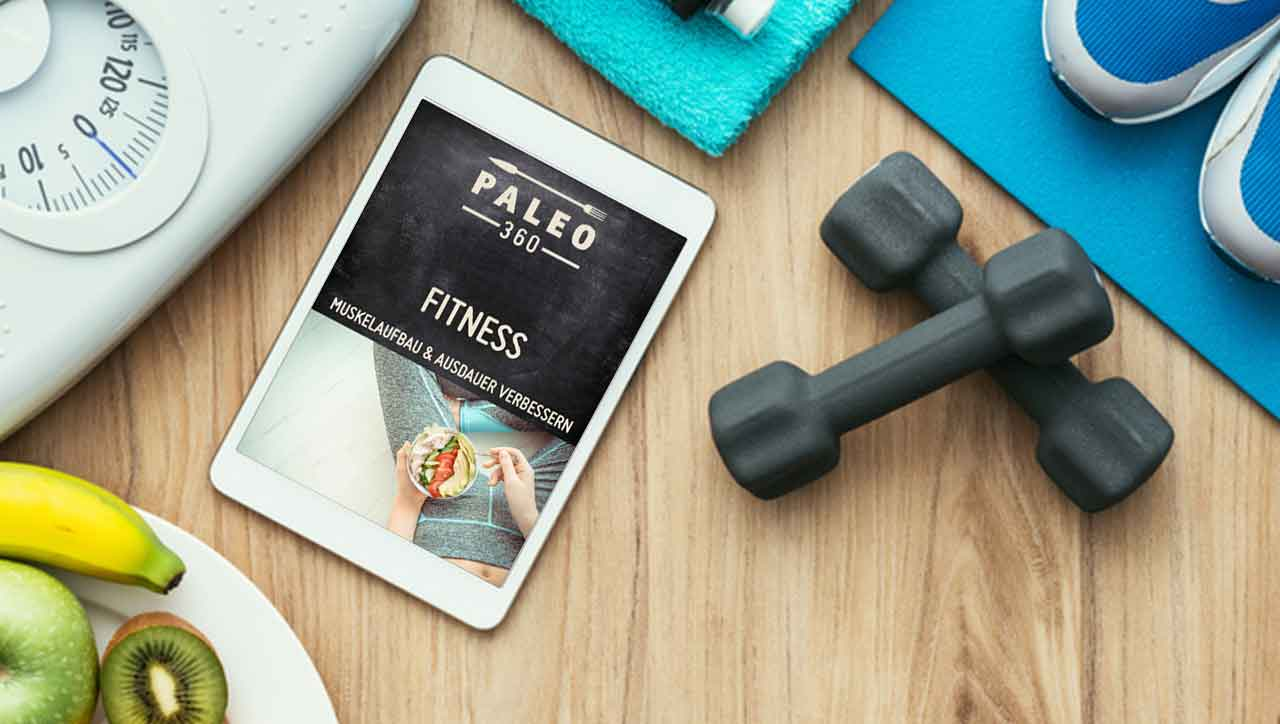 Fitness E-book auf dem Tablet