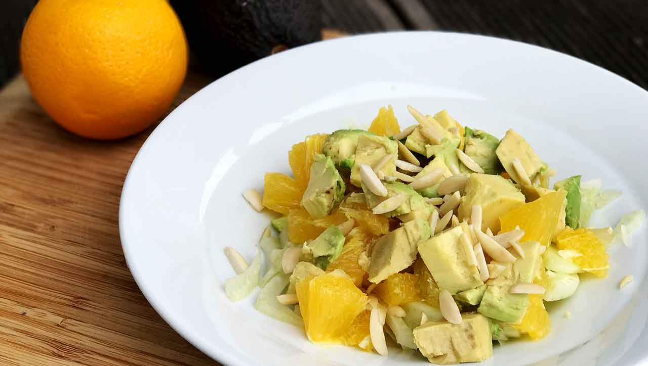 Avocadosalat mit Orange