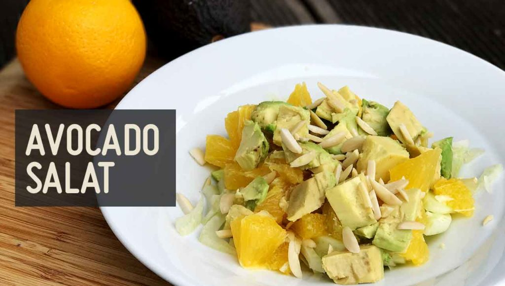 Avocadosalat Orange