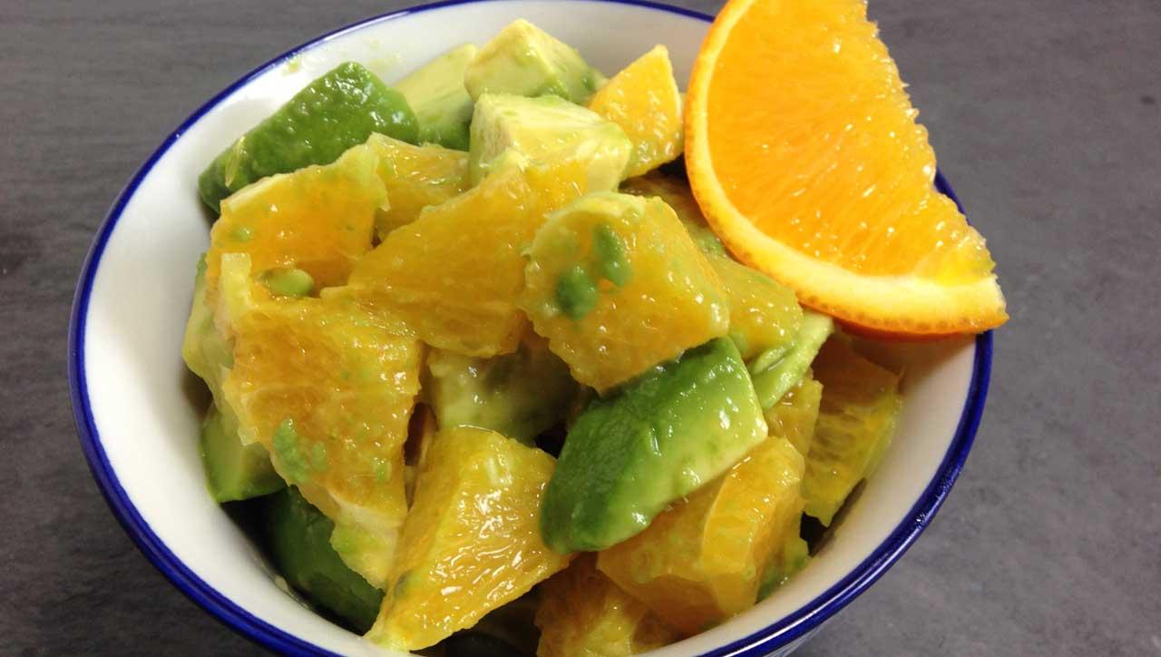 Avocadosalat mit Orange