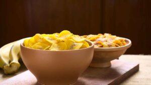 Kochbananen Chips