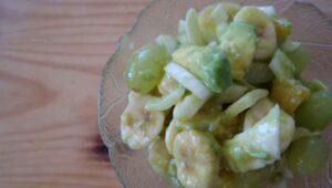 Obsalat mit Fenchel