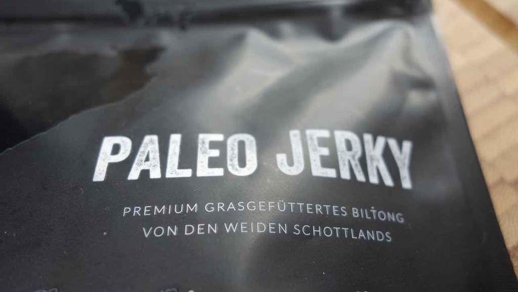 Produkttest Paleo Jerky Trockenfleisch Beef Jerky Biltong Verpackung