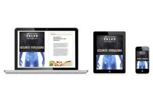 Darstellung E-Book Verdauung auf dem Tablet