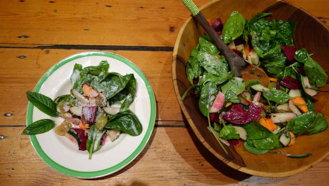 Kokos-Minz Salat