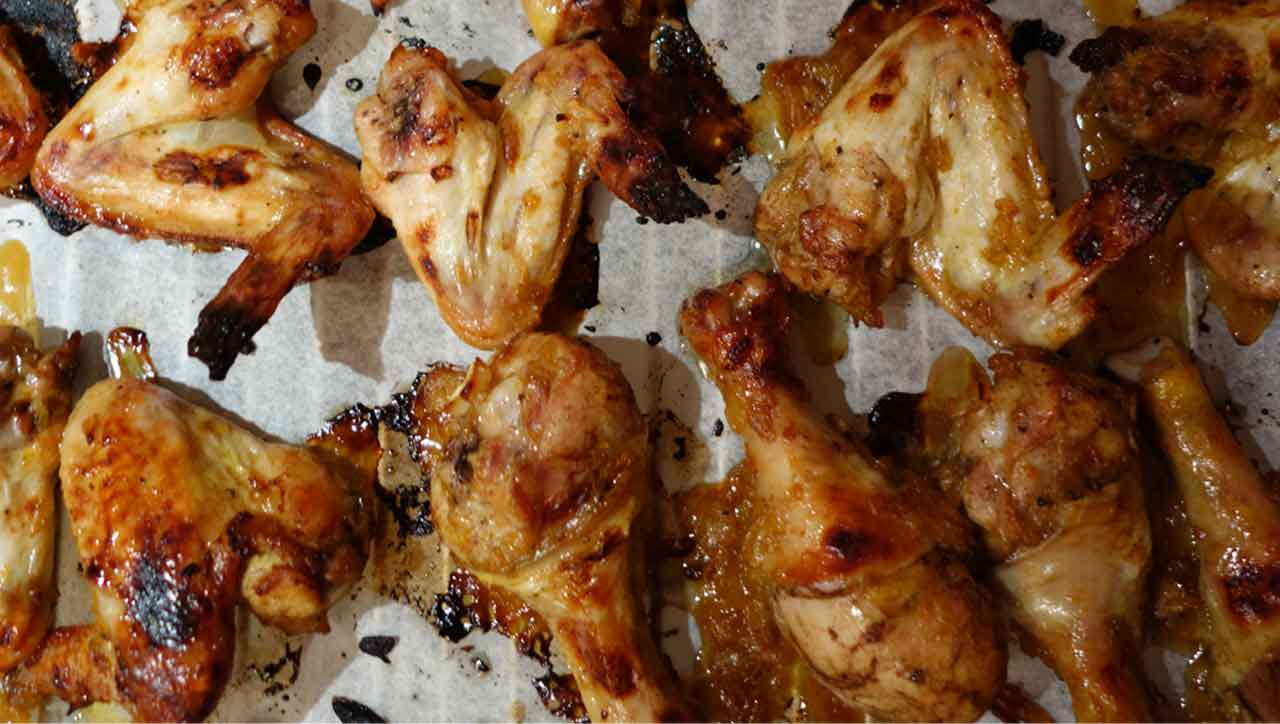 Honig-Senf Chicken Wings