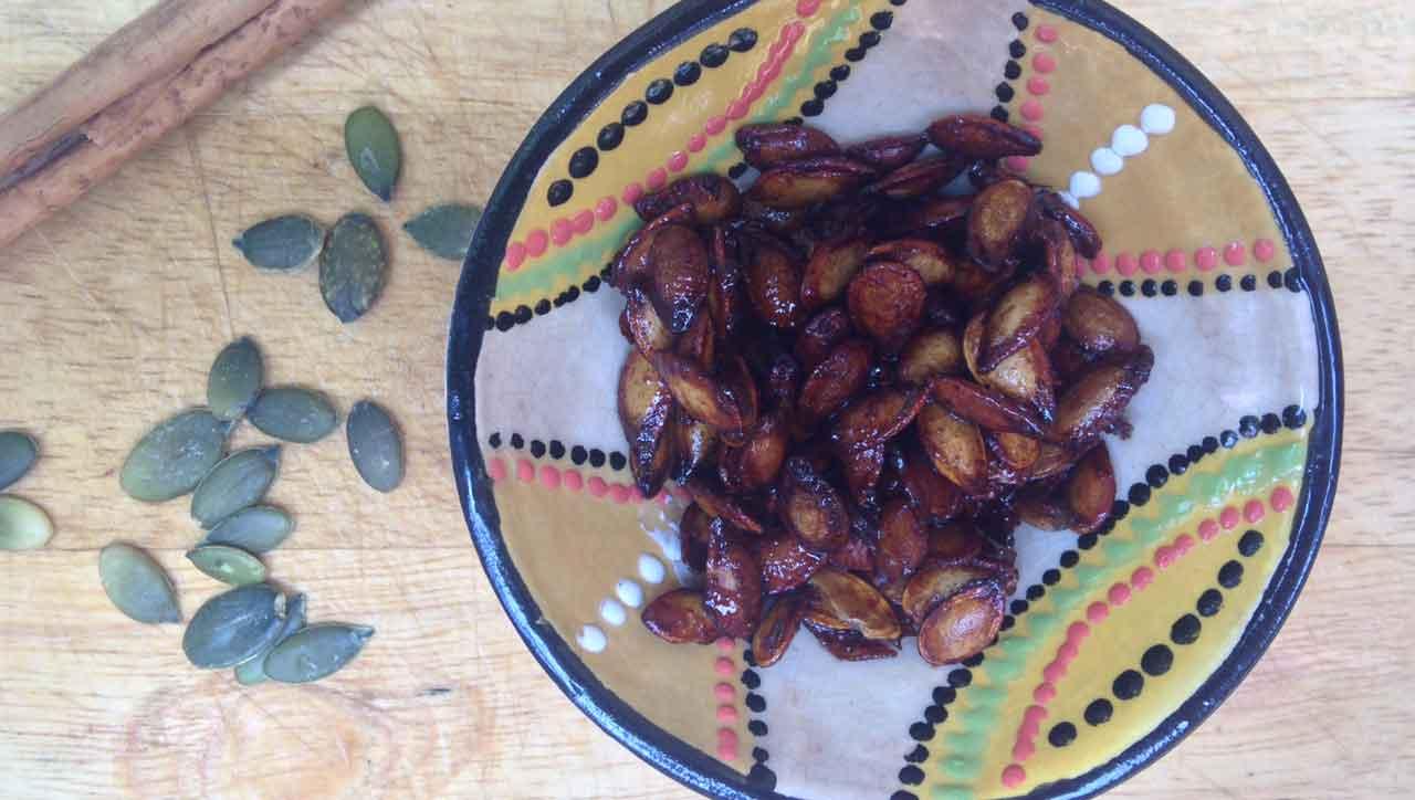 Süße geröstete Kürbiskerne