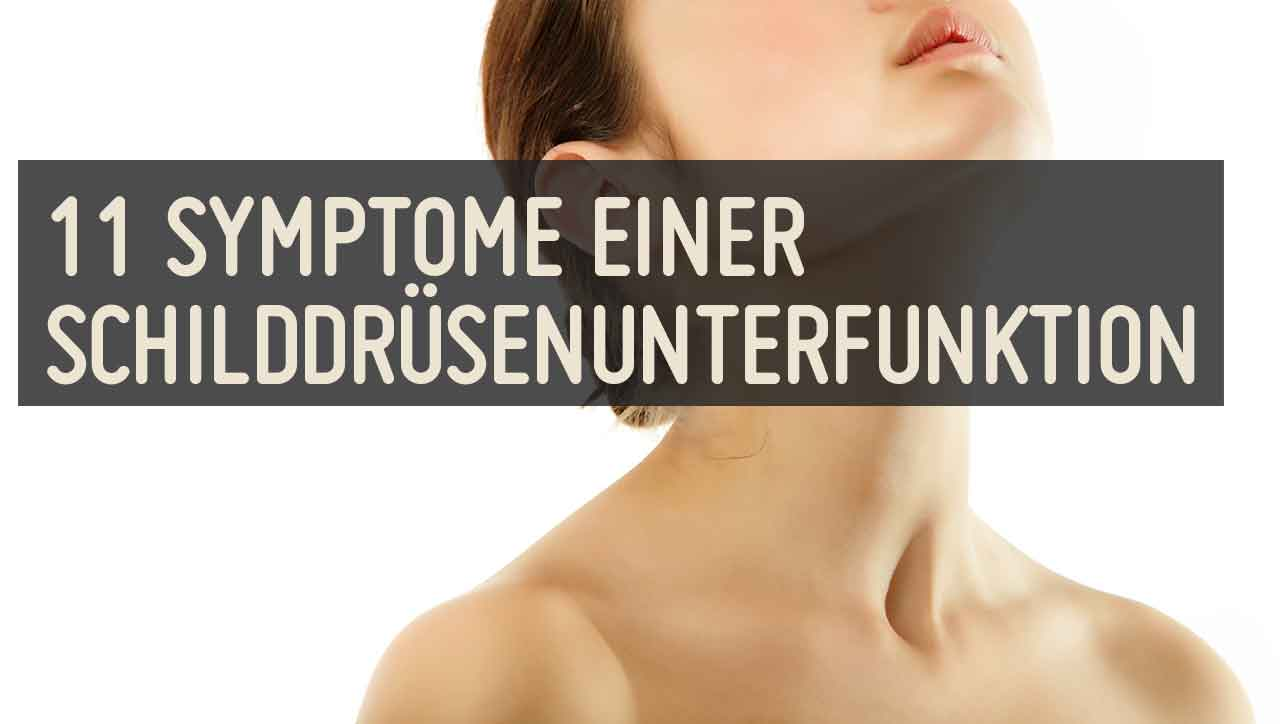 11 Symptome einer Schilddrüsenunterfunktion