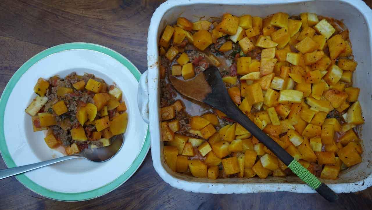 Afrikanischer Aprikosenauflauf