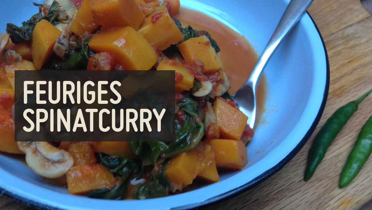 feurigs Spinatcurry