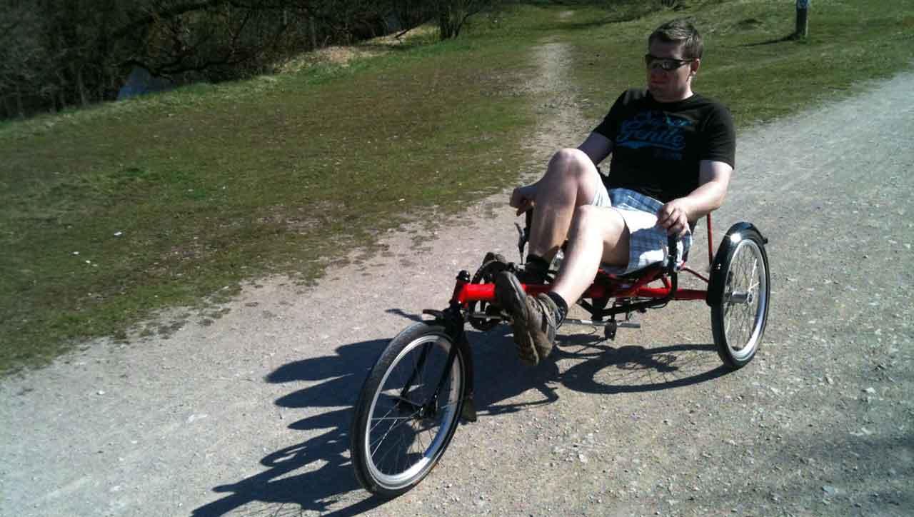 Matthias mit Rad