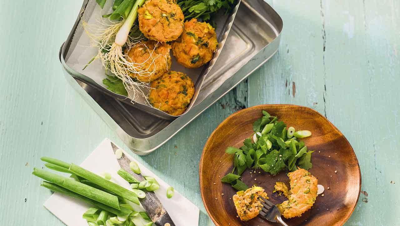 Süßkartoffel Thunfisch Muffins