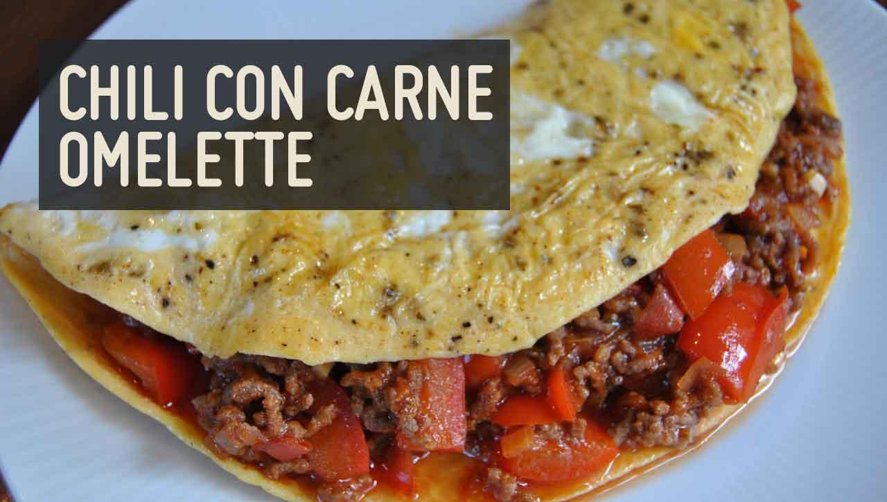 Chili con carne omelette