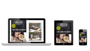 Darstellung Low Carb E-Book auf Geräten