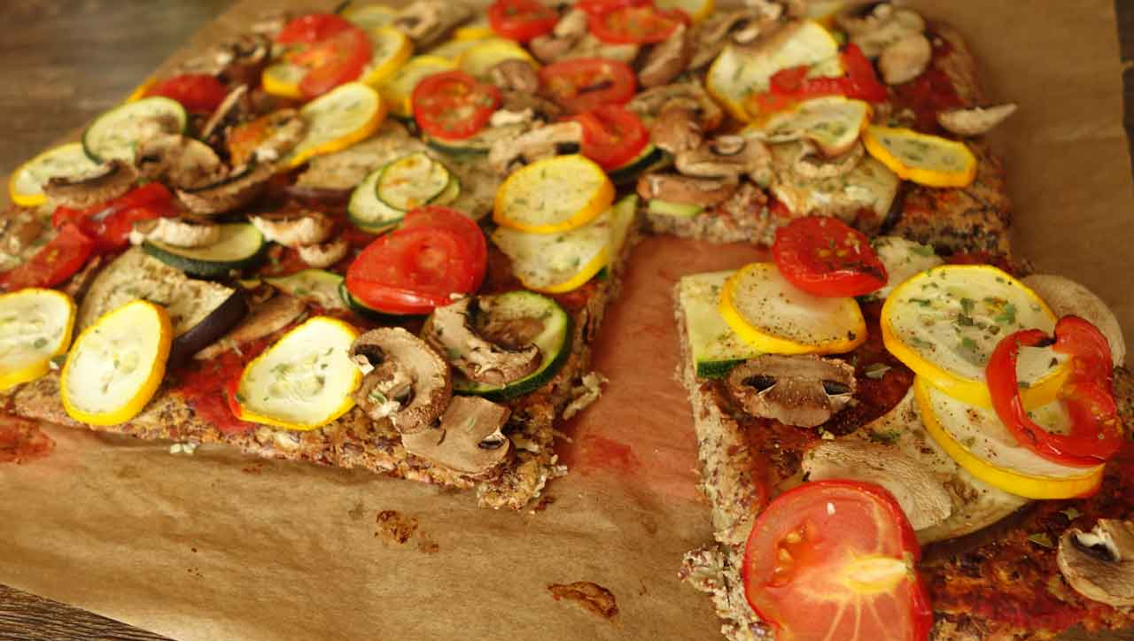 Mediterrane Low Carb Pizza