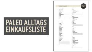 Paleo Alltags Einkaufsliste