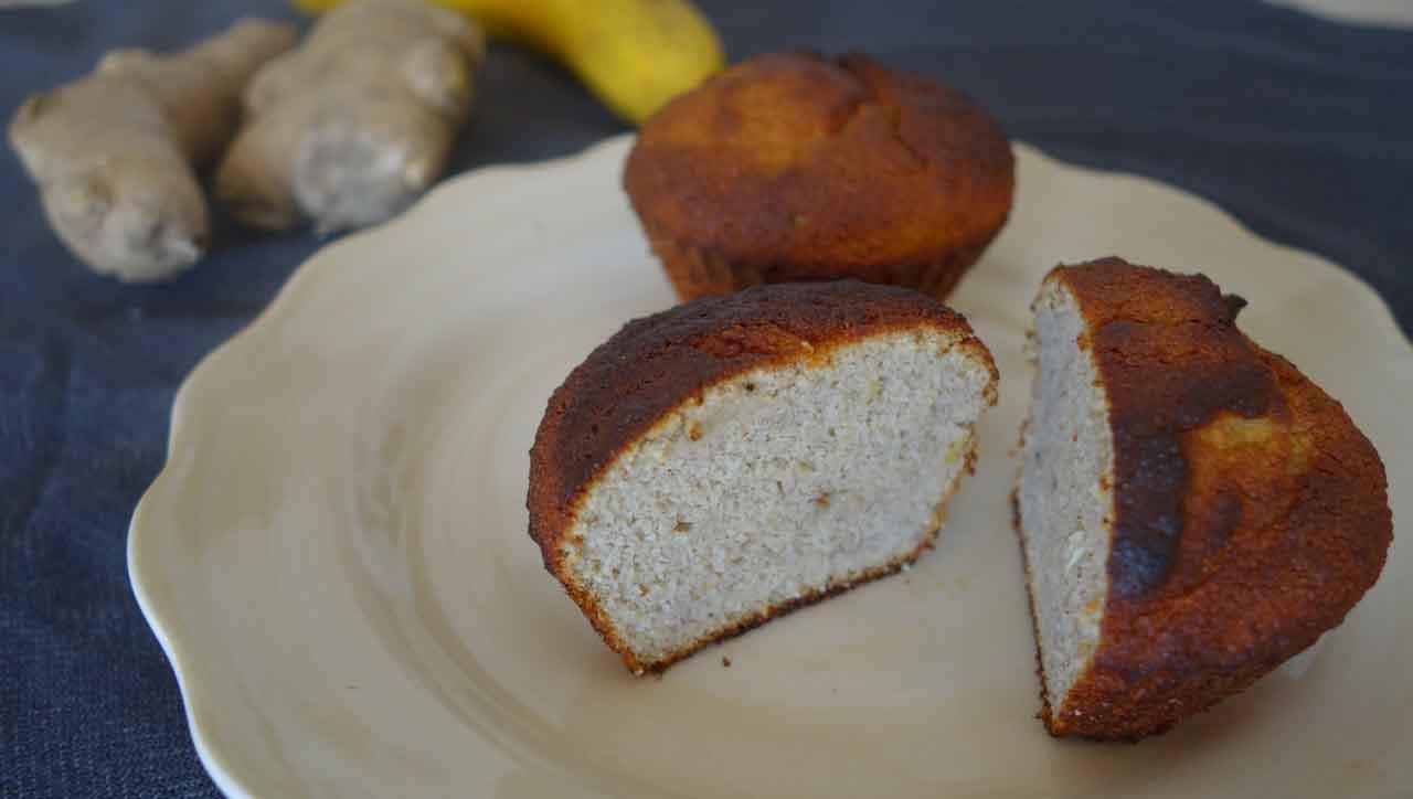Ingwer Bananenmuffins