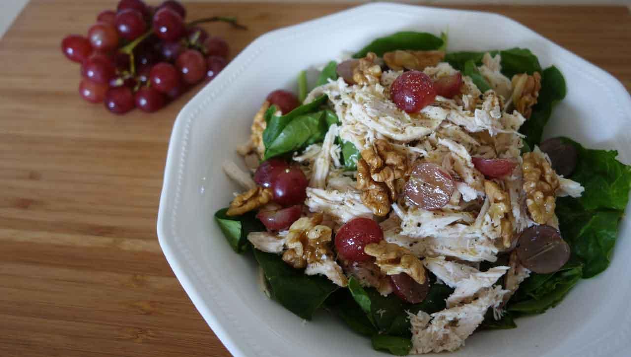 Geflügelsalat mit Trauben