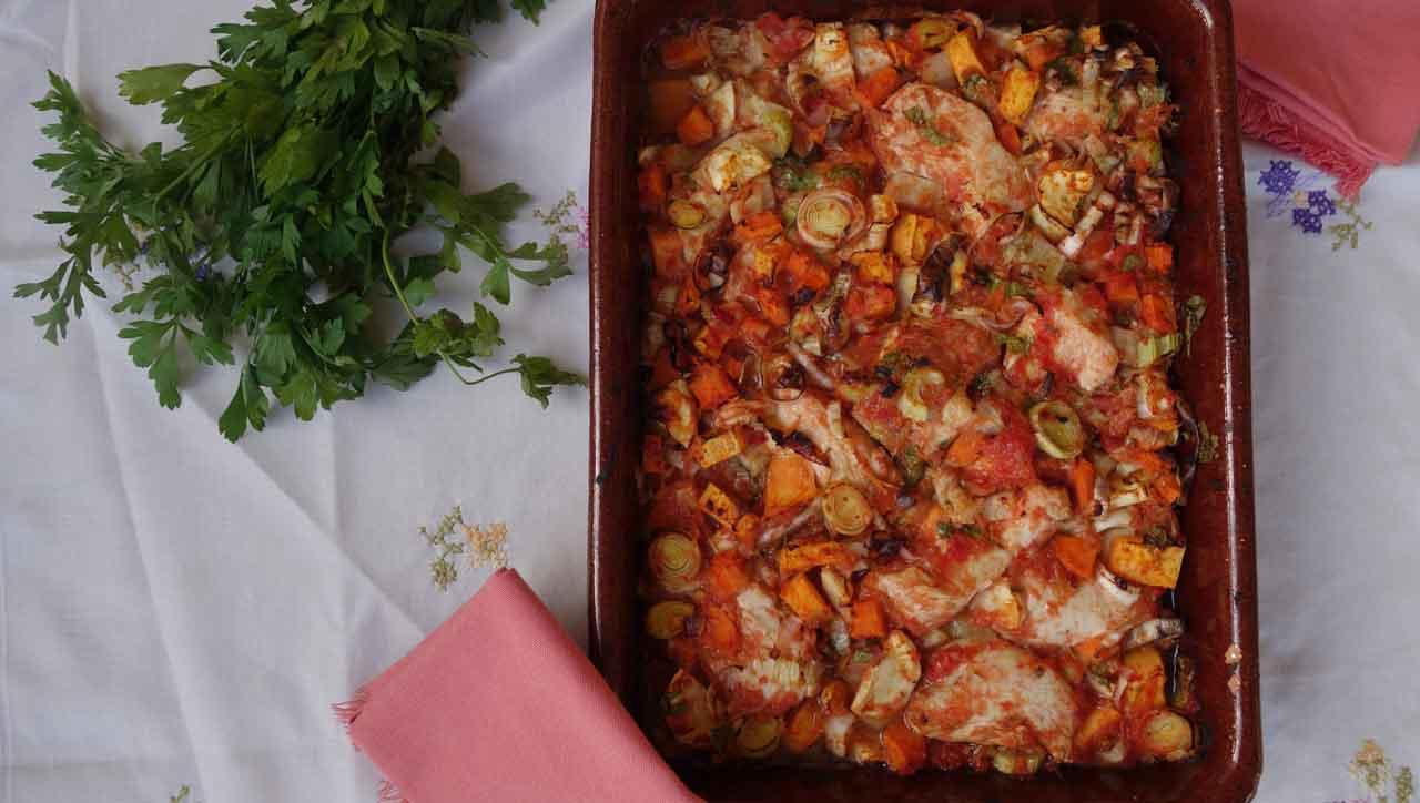 Tomaten Hühnchen Auflauf