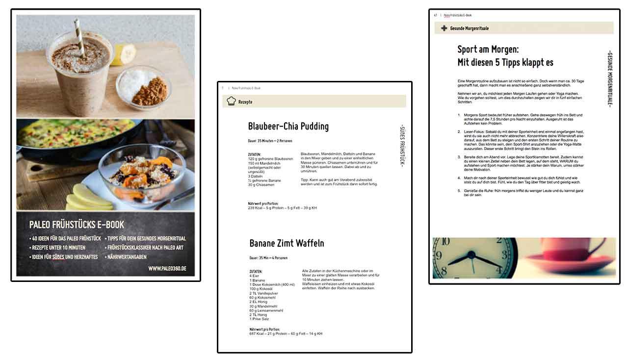 Produktvorschau Frühstücks Kochbuch