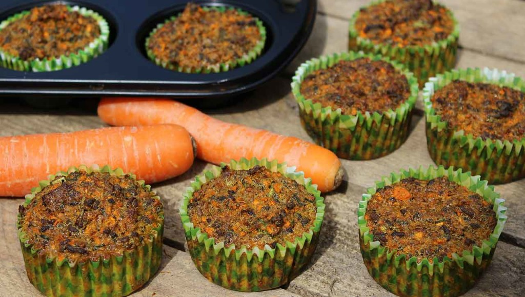 Hackfleisch Karotten Muffins