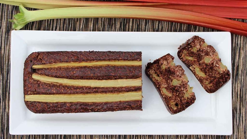 Schokoladen Rhabarberkuchen backen