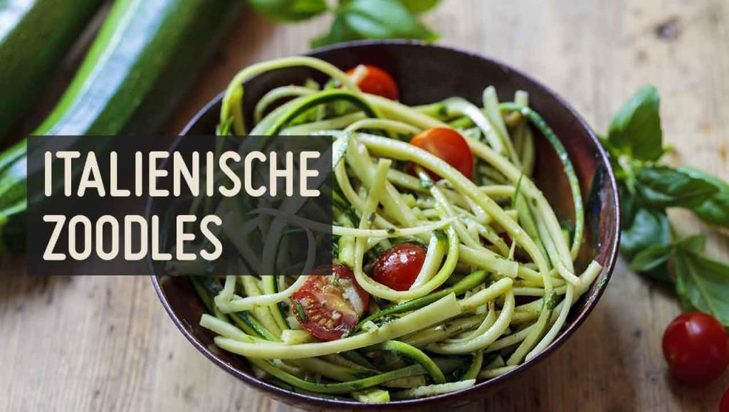 Kirschtomaten + Knoblauch + frische Kräuter = italienische Zoodles