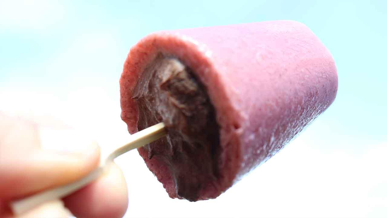 Gefülltes Schoko Erdbeer Eis