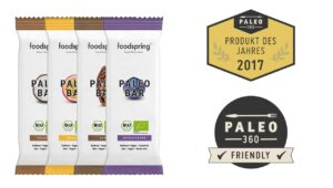 Produkttest riegel foodspring paleo bar
