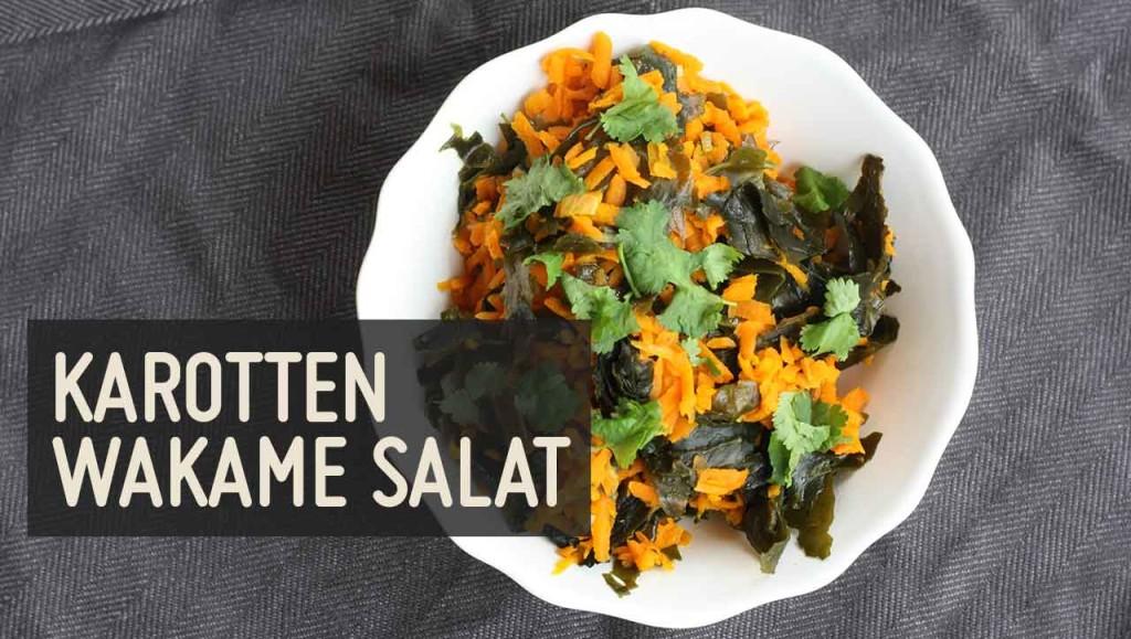 karotten wakame salat