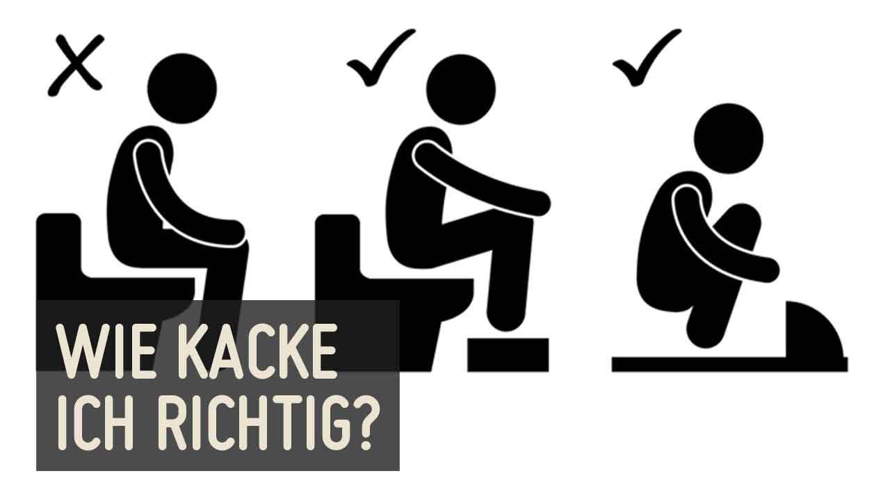 Die richtige Haltung ist entscheidend - auch auf der Toilette