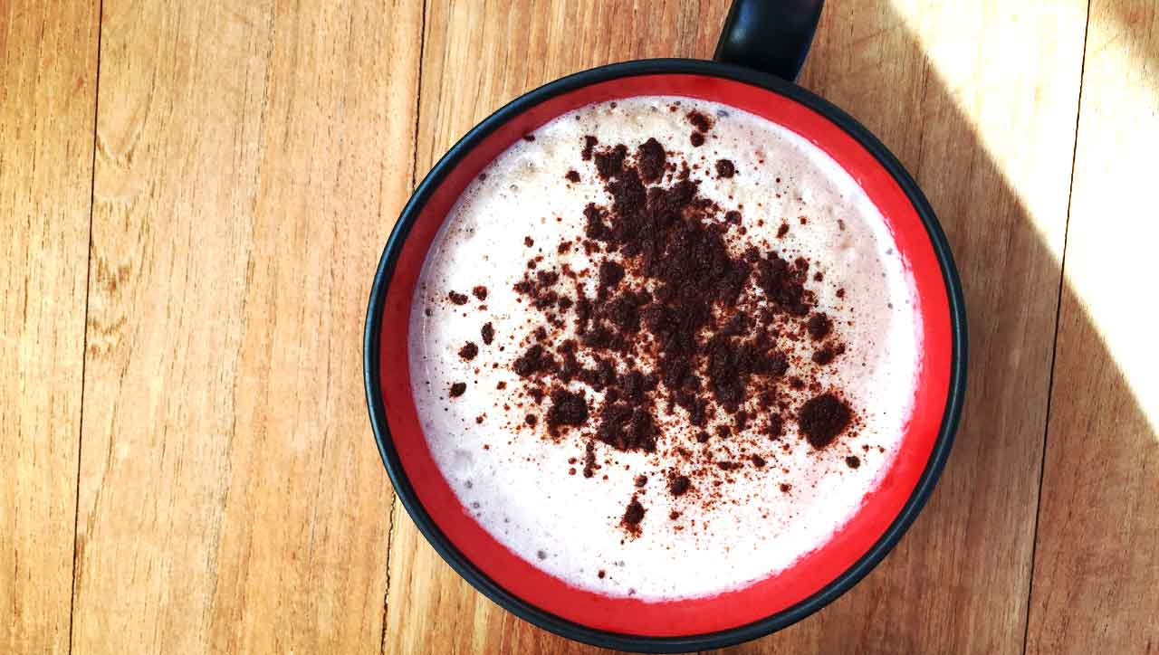 Mandelmilch Cappuccino